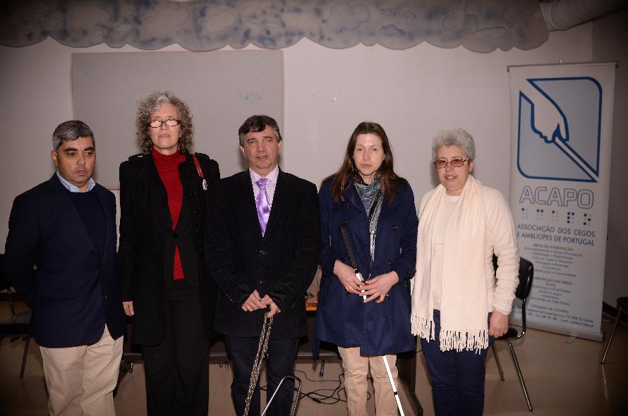 fotografia da nova Direcção da ACAPO - Coimbra